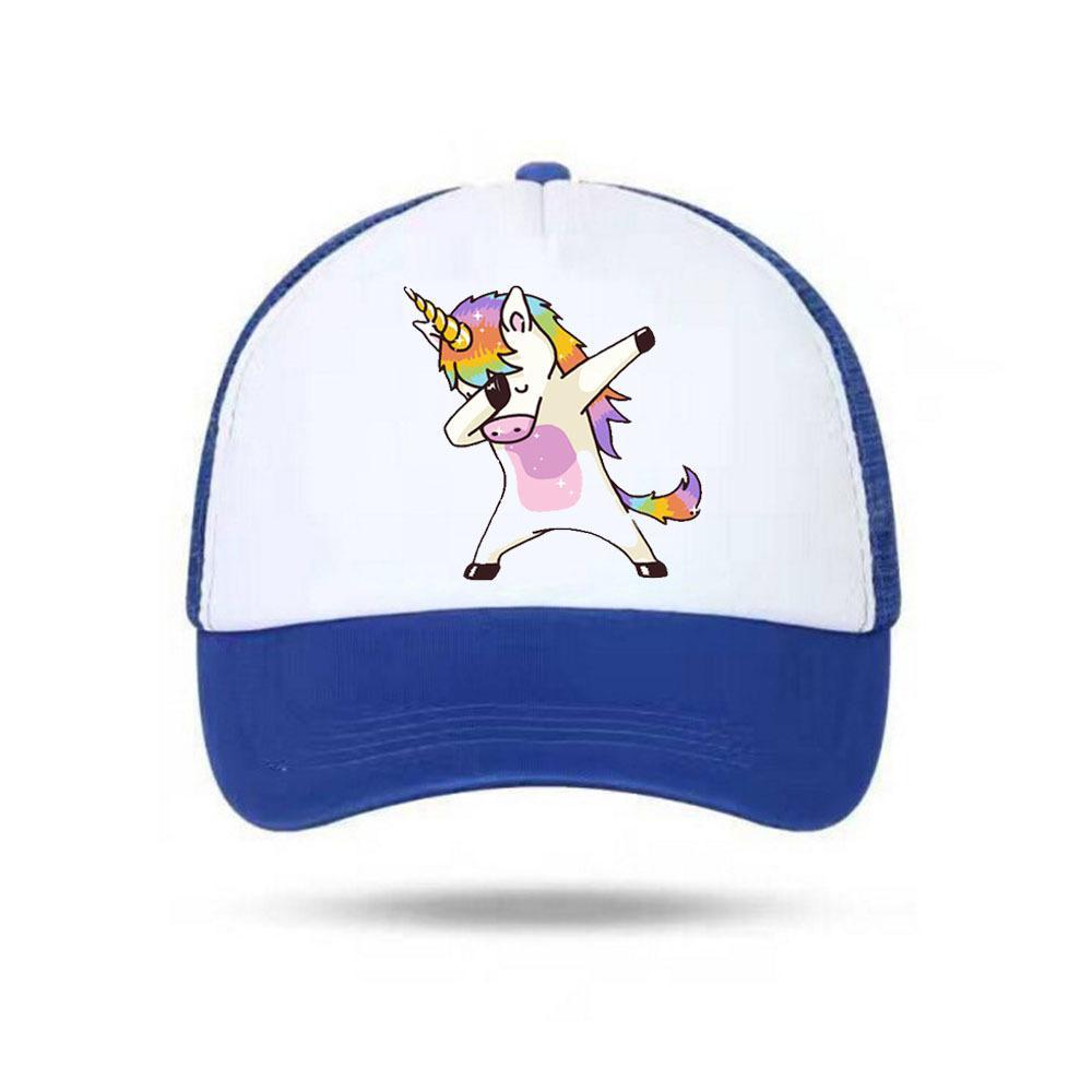1f09865447f6 Moda Unicornio Gorra New Men Snapback Caps Imprimir sombreros de las  mujeres Gorra de béisbol del deporte de dibujos animados para niños niñas  ...