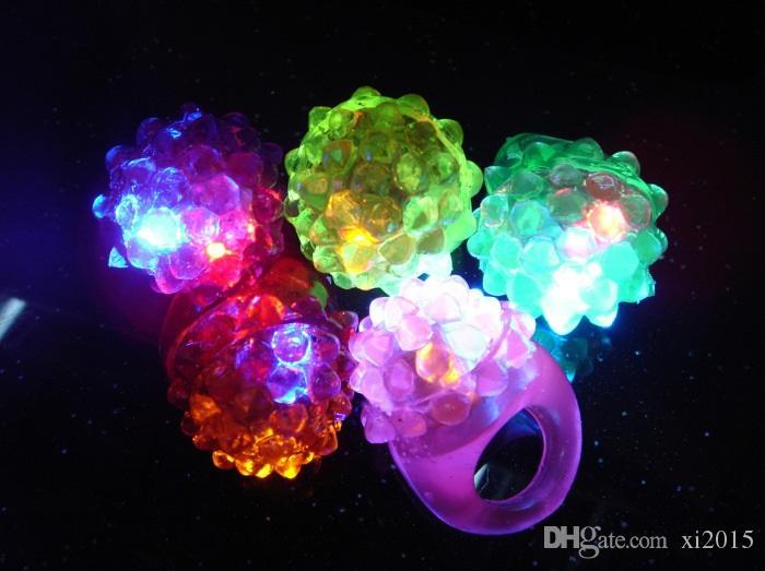 Anneau à bulles clignotant Party rave Clignotant gelée douce lueur Vente chaude! Cool led lumière jusqu'à wen5083