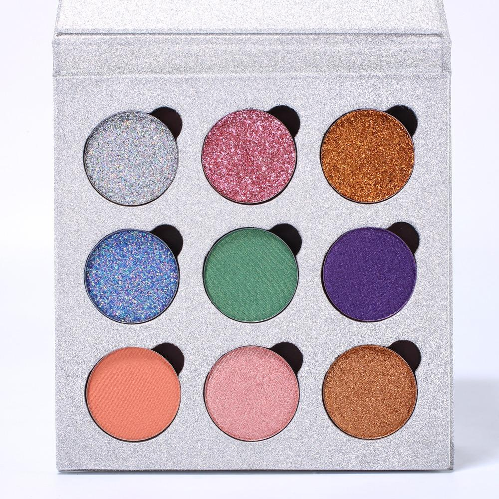 2018 Newest Eyeshadow Palette Empty Magnetic Palette Refill Eyeshadow Blush DIY Beauty Pigment Makeup Cosmetic Glitter Palette