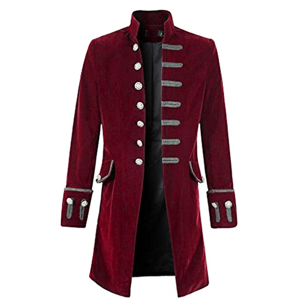 Acheter Vintage Steampunk Hommes Manteau Cool Gothique Tailcoat Long Veste  Mode Rétro Bouton Trenchs Manteaux Homme Outwear Patry Uniforme Costume De   48.57 ... 883c9ac624a