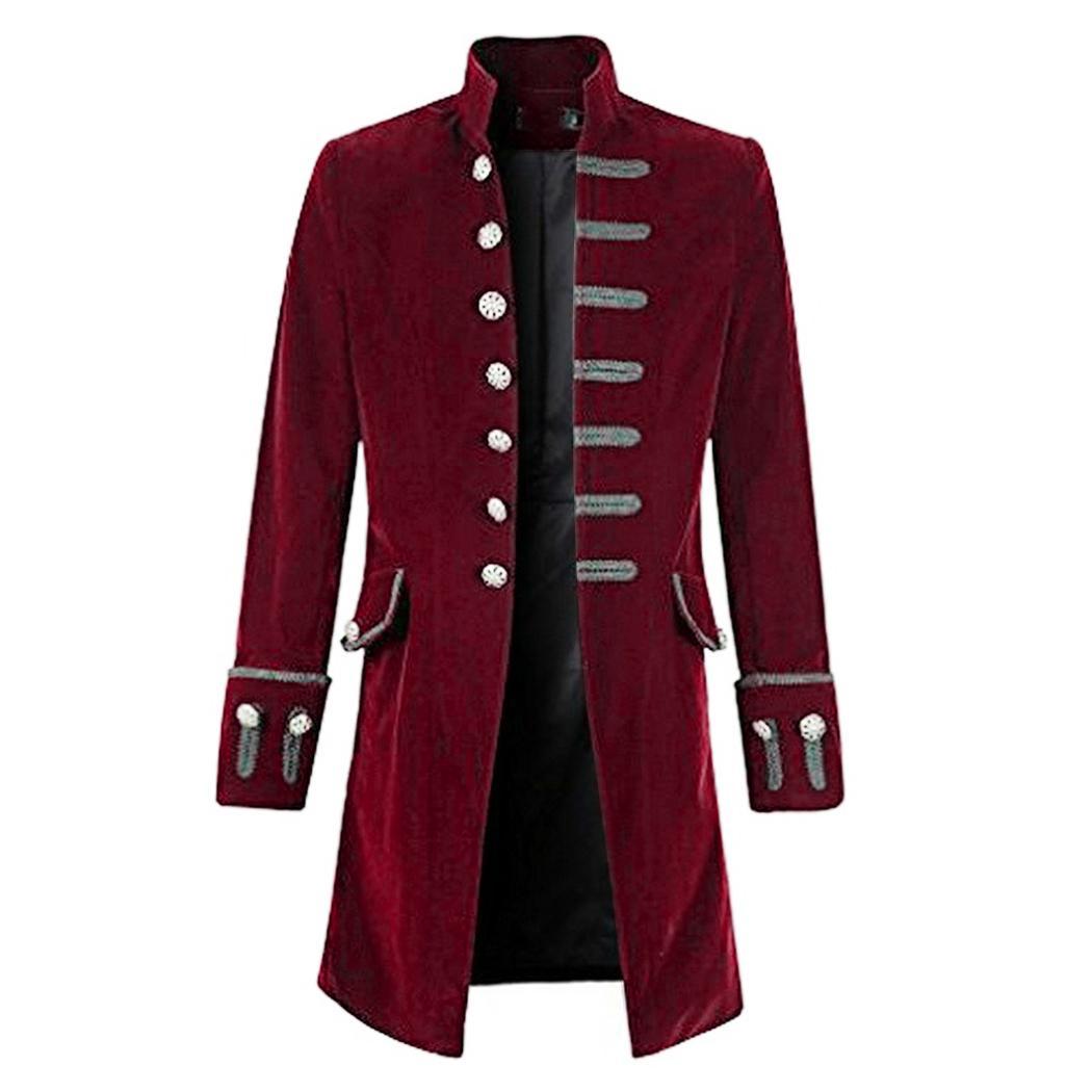 Acquista Vintage Steampunk Uomo Cappotto Fresco Gotico Fracotto Lungo  Giacca Moda Retro Button Trench Cappotto Maschile Outwear Patry Costume  Uniforme A ... 0f0496fe00a8