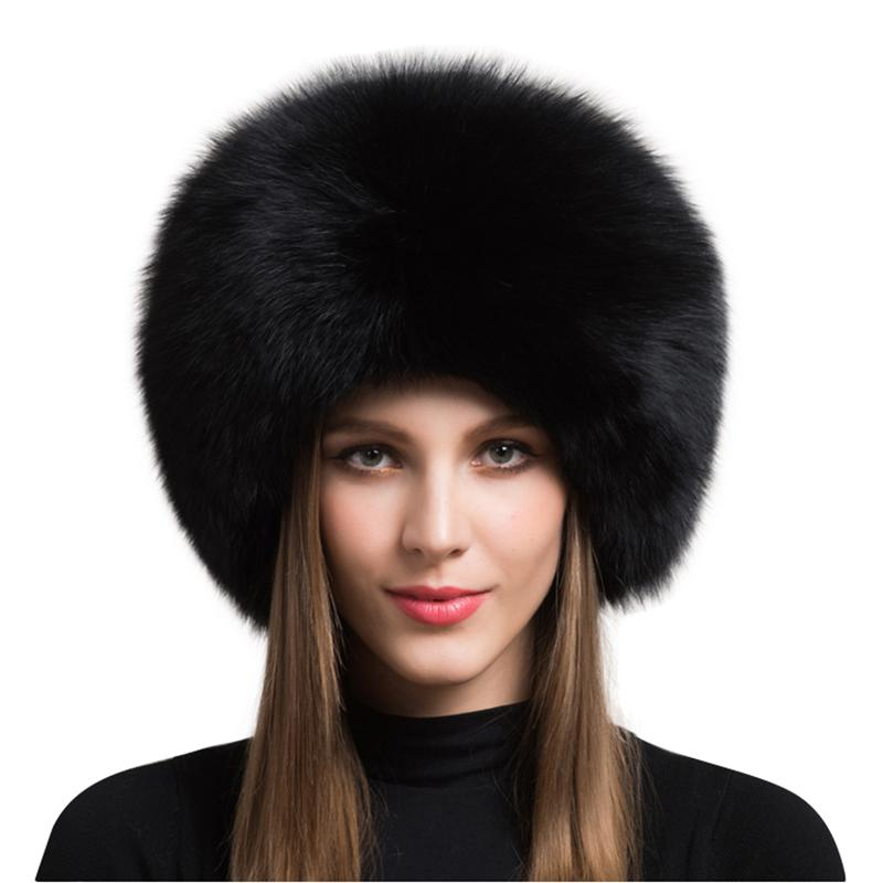 606071b245d95 2019 2018 Hot Sale 100% Natural Fox Fur Hat Women Cap Thick Fur Cap Winter  Warm Hat Female Fashion For Women With Earmuffs W From Duweiha