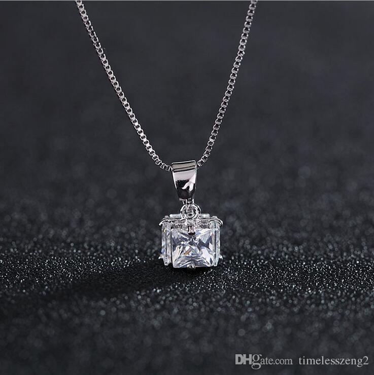 Elegante Collar Colgante de Cristal Cadena Clavicular de Mujeres