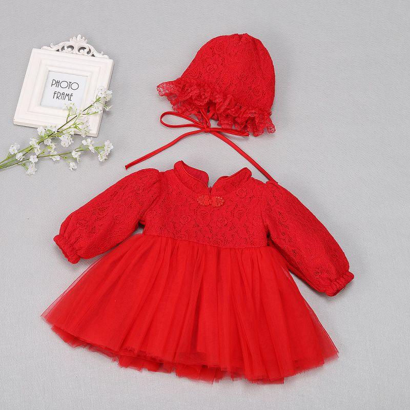 769958f5f 2019 Baby Pageant Dress Girls Lace Long Sleeve Velvet Tulle Tutu ...