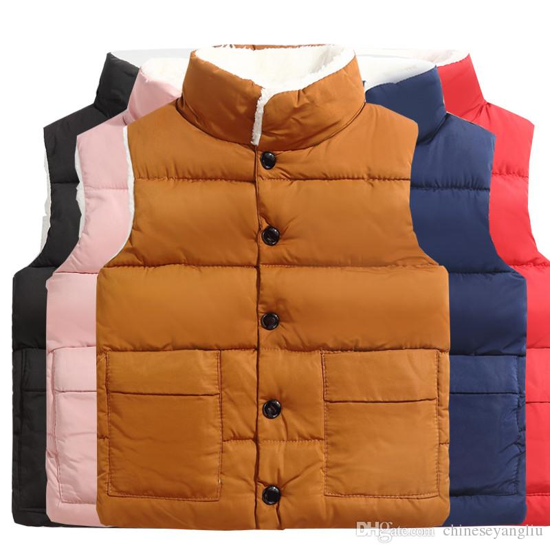 1243755fd Children Winter Waistcoat Toddler Boys Down Coats Vest For Girls ...