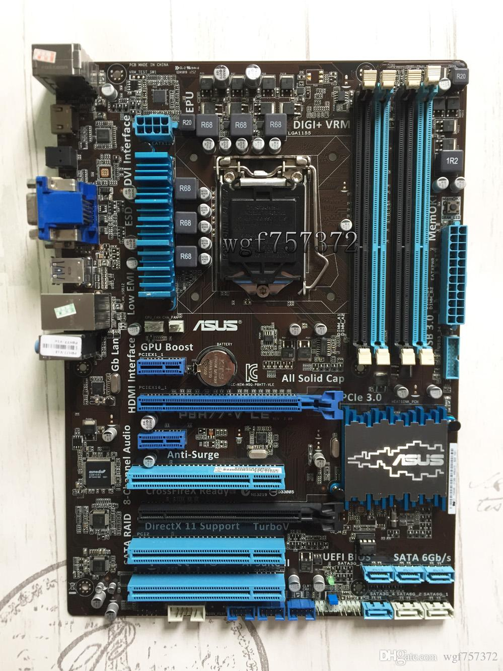 For ASUS P8H77-V LE Desktop Motherboard Intel H77 Chipset Socket LGA1155 USB 3.0 HDMI DDR3 ATX System Board