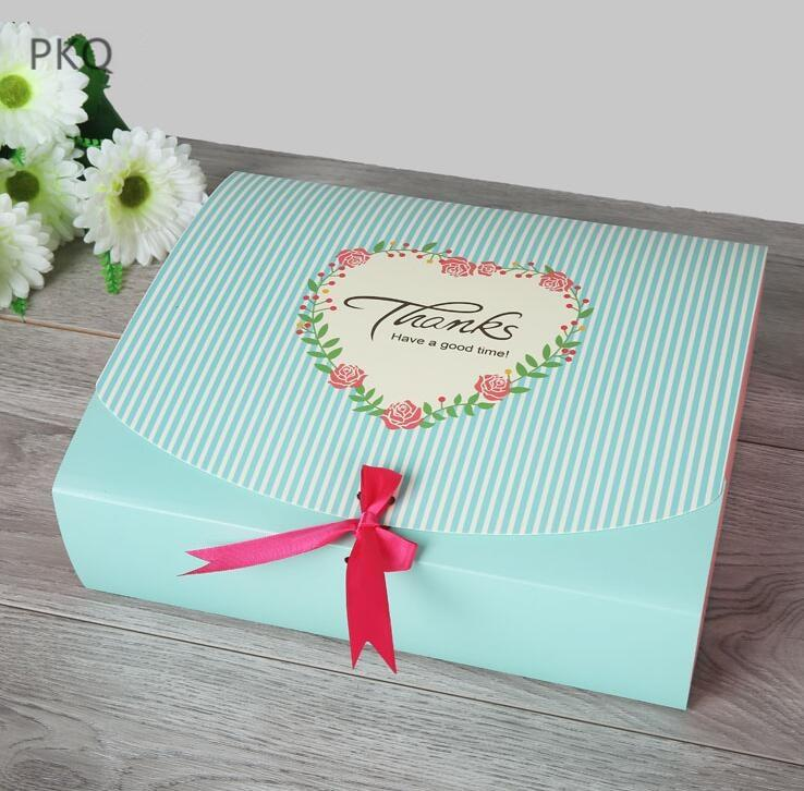Large Paper Gift Box Clothing Packaging Carton With Ribbon Bow Tie