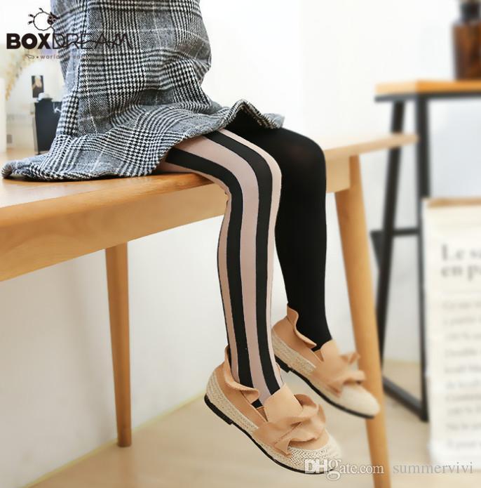 e309e148fb Baby Girls Pantyhose Tights Fashion Children Vertical Stripe Princess Leggings  Kids Contrast Color Breathable Cotton Bottoms F1376 Autumn Winter Children  ...