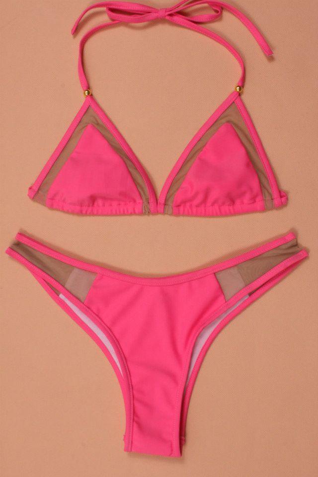 Seksi Düşük Bel Bikini Set Bandaj Mayo Mayo Halter Maillot De Bain Femme Mayo Kadın Biquini Katı Bikini Mayo
