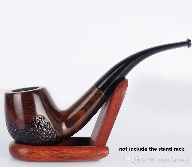 USA new carved Ebony Smoking Pipe mouthpiece Filter bent Classic Wood herb Tobacco Pipe cigarette holder cigarette stem Smoke