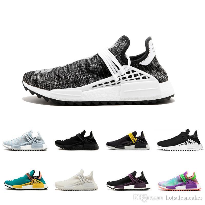 e2f713b7baa1e Black Colette Human Race Trail Running Shoes Men Women Pharrell Williams HU  Runner Yellow Nerd Core Black White Red BBC Sport Runner Sneaker Shoe Shop  Mens ...
