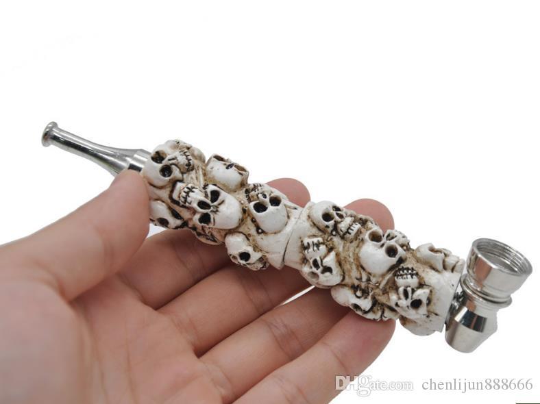 Un nouveau tuyau de filtration pour tuyau de crâne en résine métallique à tube long avec tête et couvercle en métal.