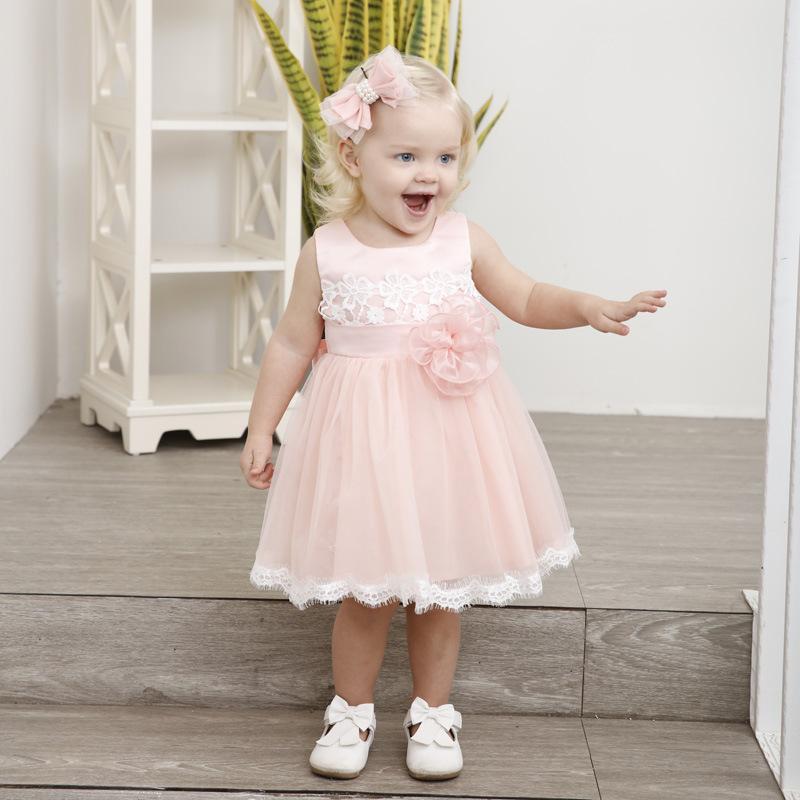 Compre Vestido De Verano Para Niñas Bebés 2018 Ropa De Moda Para Niños  Recién Nacidos Bautismo Vestidos Bebé 1 Año De Cumpleaños Vestido De Boda  Linda ... 198801cc9bd