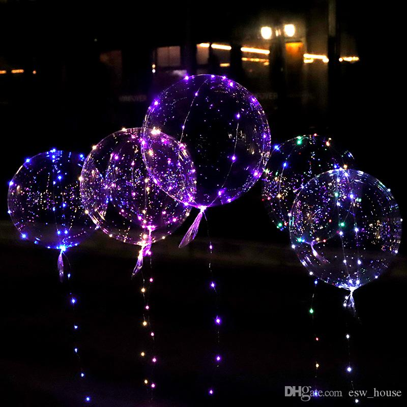Led Balloons Wedding Decorations Birthday Party Kid Toy Light Up Balloons Stick Parties Decor Christmas Holiday Wedding Supply Wholesale Kids Party