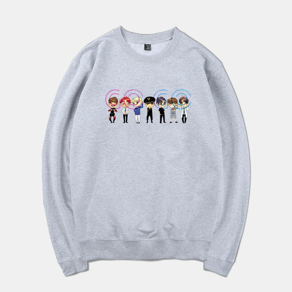 916cbbb3d635 Hip Hop Style Fashion 2018 BTS GOGO K-pop Spring Warm Sweatshirt Men Women  Long Sleeve Print Tracksuit Clothes Plus Size BTS Sweatshirt Fashion  Tracksuit ...