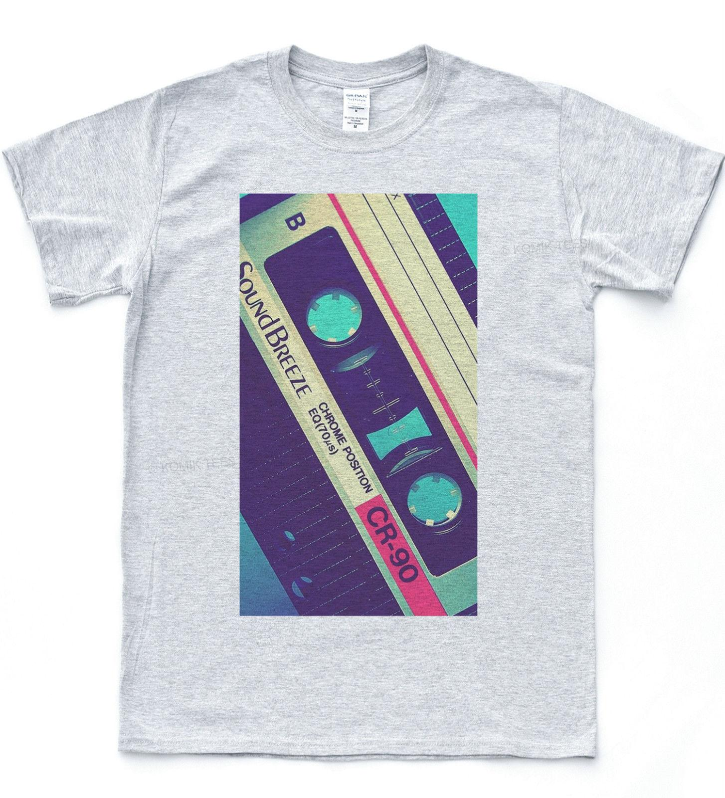 0bbd55a2086 Retro Cassette T Shirt Pop Illustration Vintage Tape Tee Indie Hipster Top  Funny Unisex Casual Retro Tees Weird T Shirts From Vectorbombb