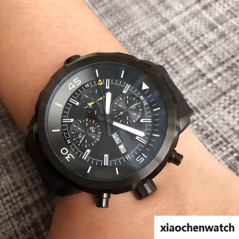 Compre Reloj De Cuarzo De Lujo Marca Marca Ocean Quartz Hombre Esfera Negra Reloj  De Goma Montre Homme A  54.45 Del Xiaochenwatch  5bf848d30b9d