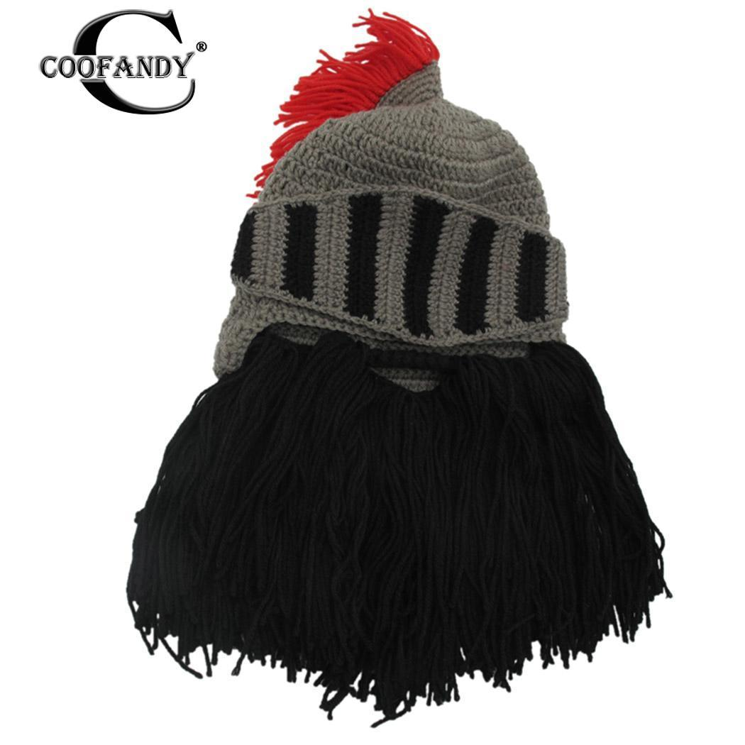 93a2786772aba Compre Solo Sombreros Cosplay De Caballero No Sombrero Retorcido Gorras De  Mano Casco Borla Forma De Invierno Con Barba Barba Tibia Punto De Lavado  Para ...