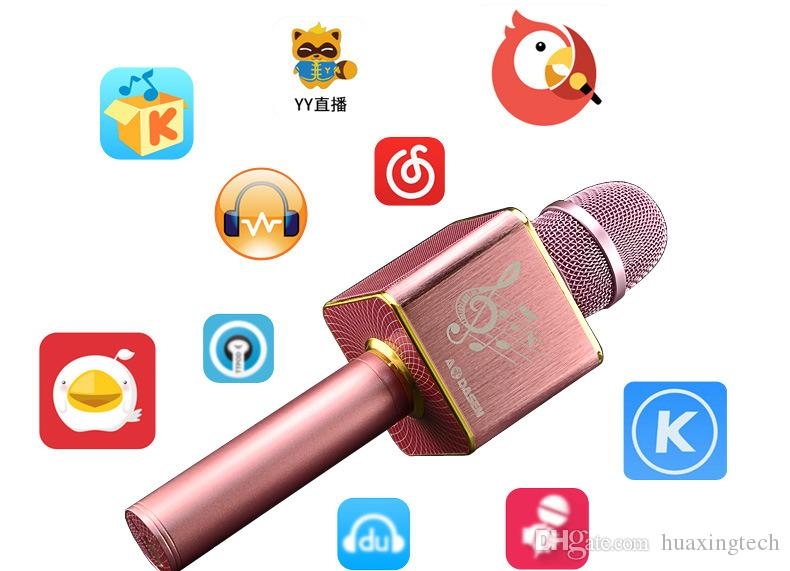 Wireless Bluetooth GOLDEN Lautsprecher Mikrofon für Handy Freisprecheinrichtung Anruf singen