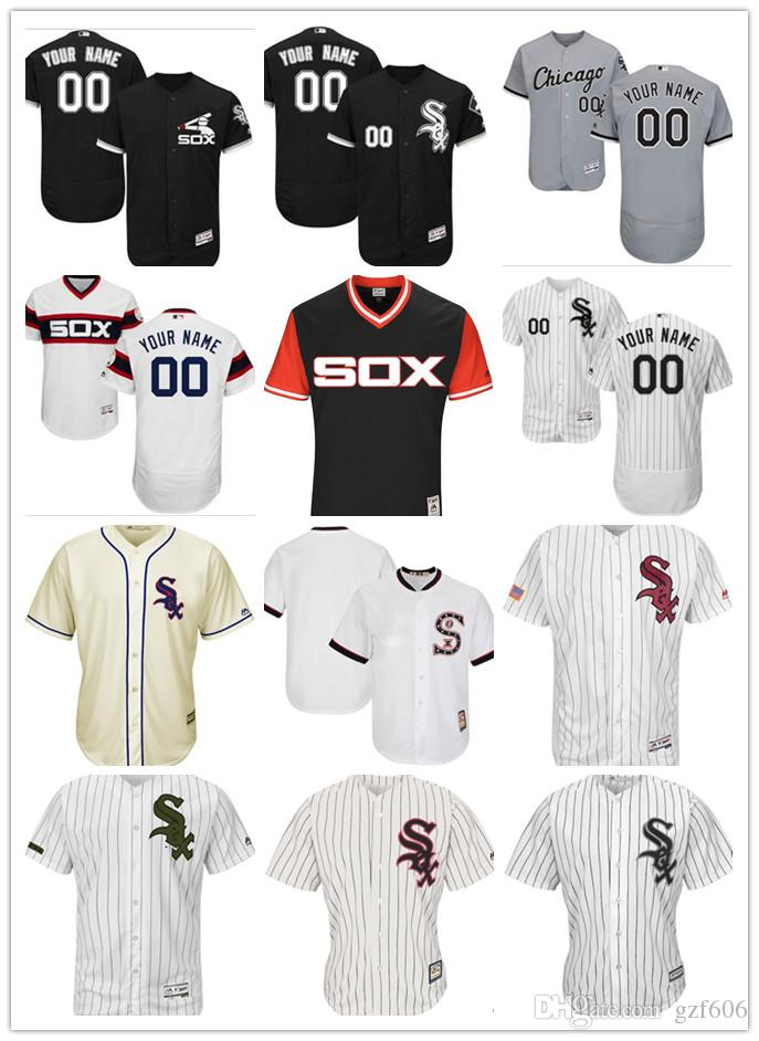 55d424476 2019 Custom Men S Women Youth Majestic Chicago White Sox Jersey Personalized  Name And Your Number Black Grey White Kids Girls Baseball Jerseys From  Gzf606