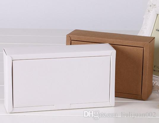 Factory outlets can be printed logo Kraft paper Packing boxes Clamshell Paper box 18*13*3cm