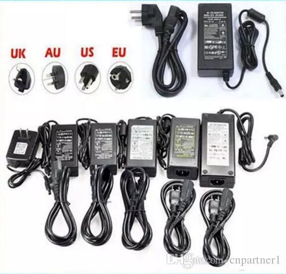LED блок питания 110-240В AC DC 12 в 2а 3а 4а 5а 6а 7а 8а 10а 120 Вт 24 Вт светодиодная лента 5050 3528 трансформатор адаптер для LED полоски