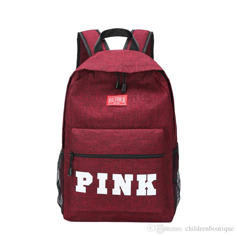 Kids Pink Backpack Students School Bags Newest Fashion Pink Travel  Shoulders Bags Large Capacity Teenager Sport Leisure Backpacks Cheap And  Cute Backpacks ... 1c8abeff21