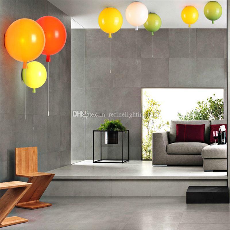 Acheter Coloré Ballon E27 Mur Lampes Intérieur Salon Enfants Chambre ...