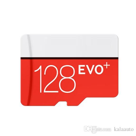 White EVO PLUS + 32GB 64GB 128GB 256GB C10 TF Flash Memory Card Classe 10 Grátis Adaptador SD Retail Pacote Blister Epacket DHL Frete Grátis