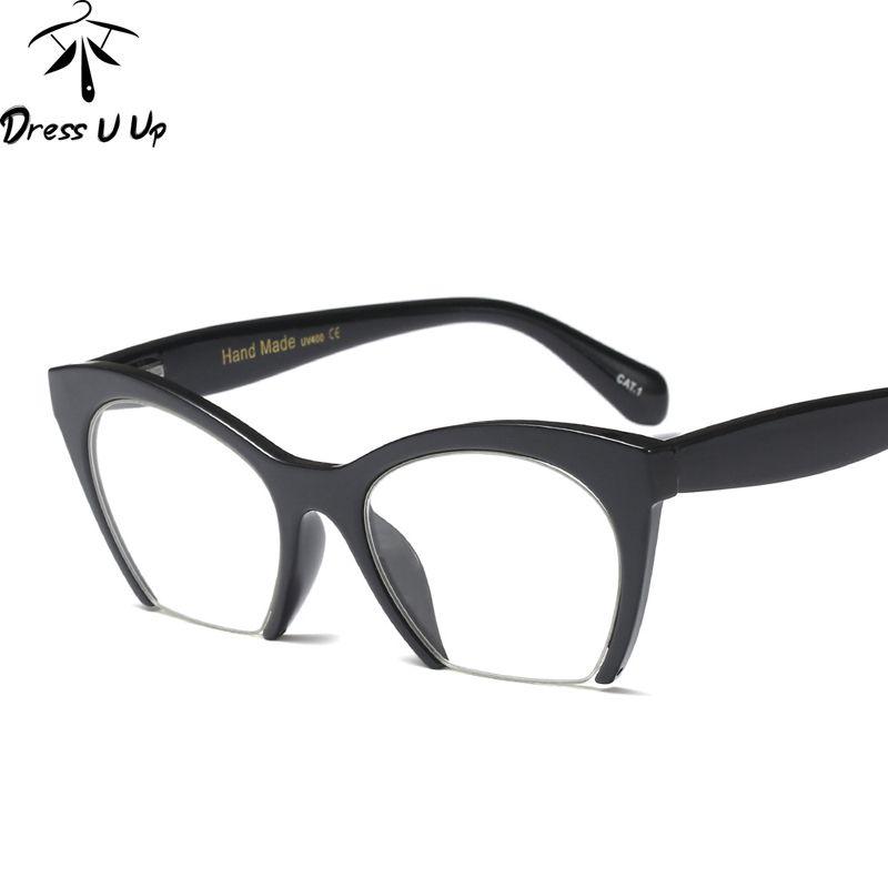 44738e64a47 DRESSUUP Fashion Cat Eye Glasses Women Glasses Myopia Frame ...