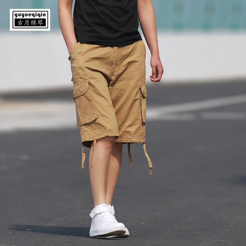 06ba853c96ae Shorts Men Clothes 2018 Summer Casual Youth Cotton Fashion Multi Pockets  Loose Solid Color Plus Size Beach Half Shorts For Men UK 2019 From  Hognyeni