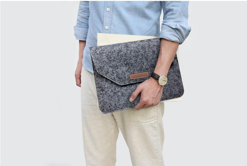 Hot Soft Felt Sleeve Bag Case For Apple Macbook Air Pro Retina 11 12 13 15 Laptop Case For Mac book Air 13 Case Retina 13 Sleeve