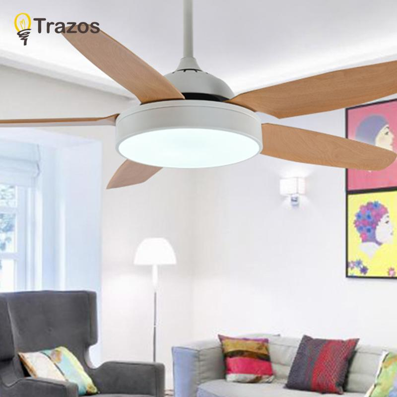 2018 Trazos Practical Led Ceiling Fan For Low Modern Lights Remote Cooling Fans Indoor Lighting Lamps Fixture From Caraa 384 06 Dhgate Com