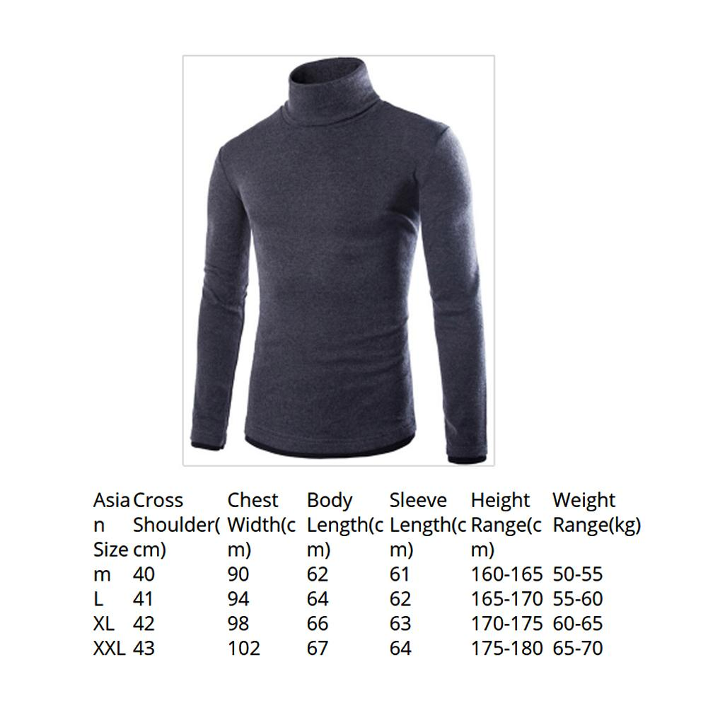 Helisopus Winter turtleneck men's Sweaters fake two men's knit turtleneck pullover sweater Slim Skinny Knitted thermal underwear