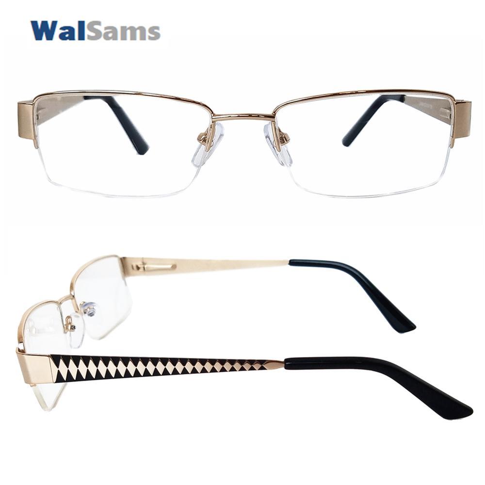 f043ef3d29 Occhiale da vista in metallo con montatura per occhiali con lenti  trasparenti per gli uominiVetri con montatura per occhiali da vista in  acciaio ...