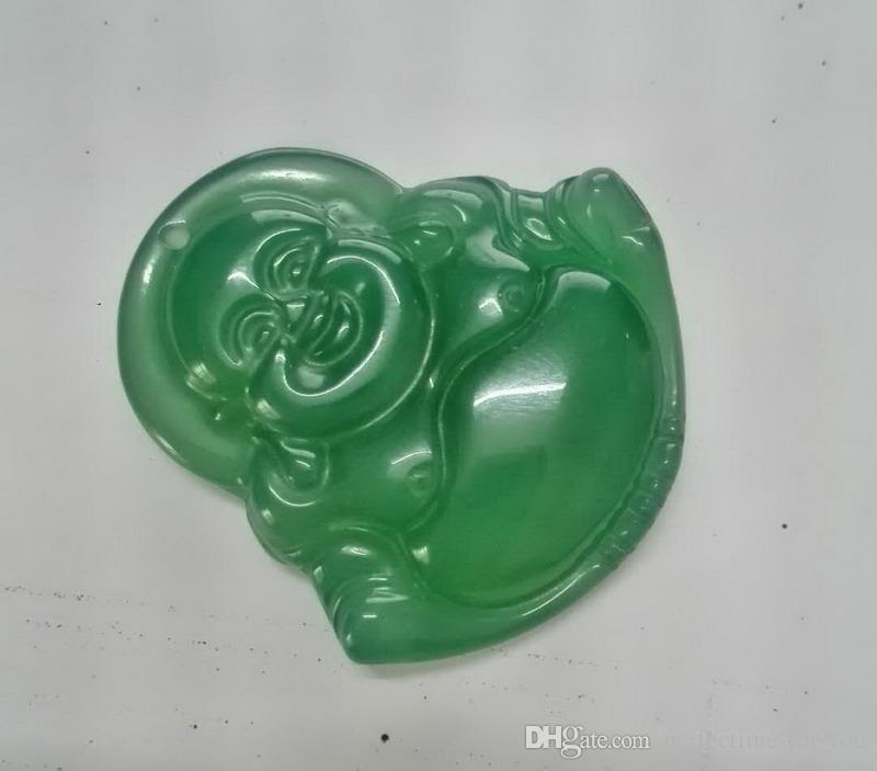 100% natürliche Hand geschnitzt chinesischen Jadeit Anhänger-Buddha