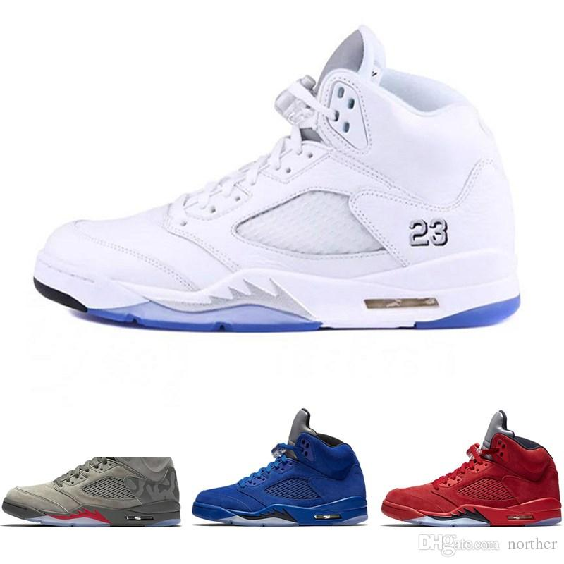 4b250805c13e8 Cheap 5 Basketball Shoes Sneaker 5s V Men Women Red Suede Oregon Ducks  Olympic Grape Raptors Cement Classic Designer Brand Tennis Sport Shoe  Basketball ...