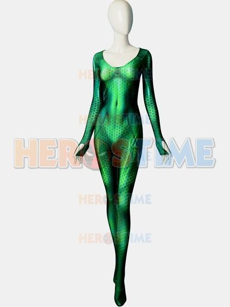 Quinn Mera 3d Printing Female Superhero Costume Lycra Halloween And Cosplay Female Superhero Zentai Suit The Most Popular Free Shipping