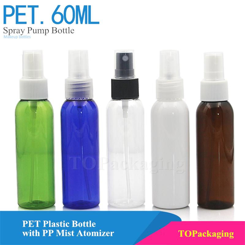 60ml Spray Pump Bottle,Empty Plastic Cosmetic Container,Small Make up  Liquid Vials,Sample Perfume Bottle with Mist Atomizer