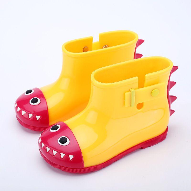 Crocodile children girls boys rainshoes cute cartoon non-slip soft bottom kids shoes baby animal Rain boots C4452