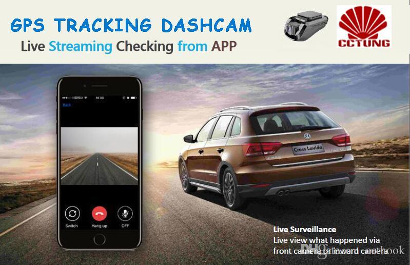 Çift Kamera Kayıt ile JC200 3G Akıllı Araç GPS Takip Dashcam Ticari Filo için Ücretsiz Mobil APP tarafından SOS Canlı Video Görünümü