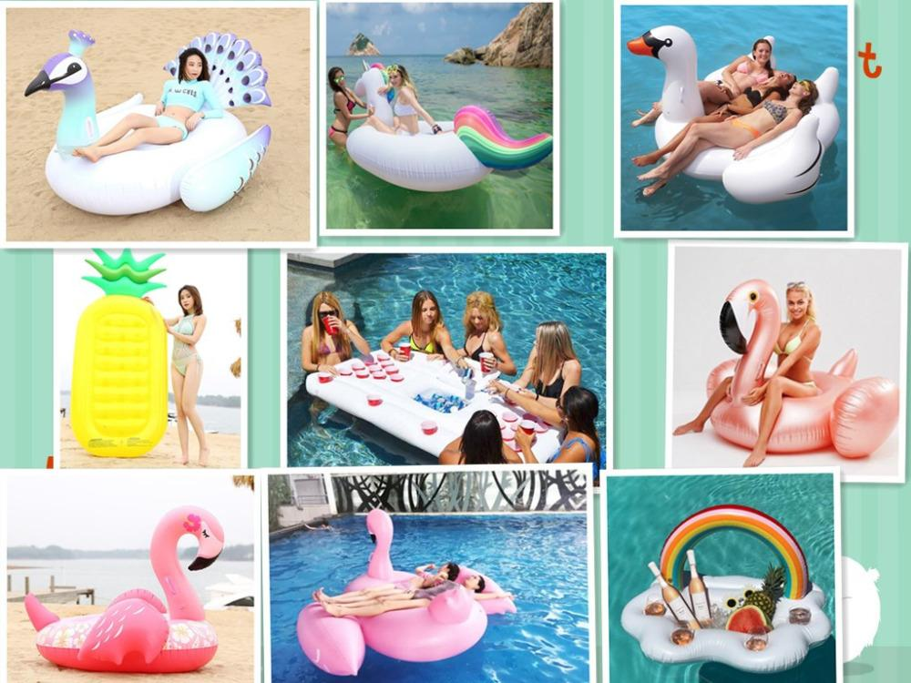 15 Style Inflatable Pool Float Giant Swan Flamingo Floats Pineapple Unicorn  Swimming Ring Air Mattress Water Toy Boia Piscina Swimming Rings Cheap  Swimming ...