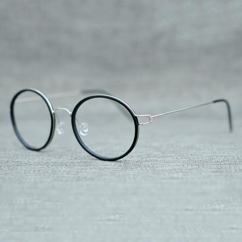 ac1448ac9be 2019 Vazrobe Titanum Glasses Men Women No Screw Small Round Eyeglasses  Frames Man Vintage Tortoise Black Male Prescription Myopia From Geworth