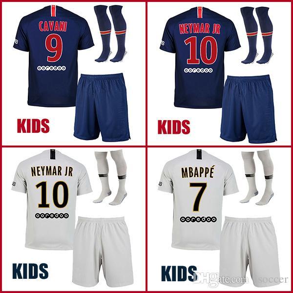 e6bba34e2 Satın Al Çocuklar Psg Kids 18 19 Dani Alves Mbappe Neymar Jr Futbol  Formaları Paris 2018 2019 Cavani Futbol Gömlek Verratti Camiseta Di Maria  Draxler Çocuk ...