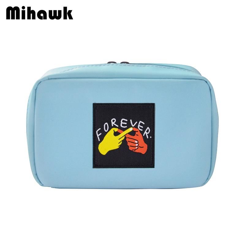 86bf513df78b Mihawk Oxford Cosmetic Bag Women S Makeup Storage Toiletry Bags Beauty Case  Mirror Tote Beautician Perfume Zip Pouch Accessories Train Makeup Case  Makeup ...