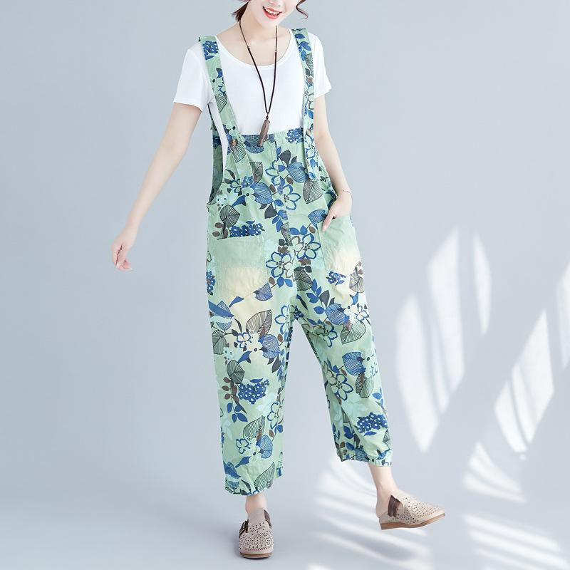 3f5542fc7c 2019 Cotton Denim Overalls For Women Plus Size Print 2018 Spring Summer  Baggy Rompers Womens Jumpsuit Wide Leg Combinaison Femme Hot From  Vanilla15