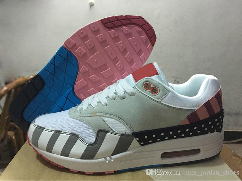 aa492730769 2019 Latest Piet Parra X 1 White Multi Men Running Shoes Rainbow Pure  Platinum Mens Casual Designer Shoes AT3057 100 Size 7 11 From  Nike_jordan_shoes, ...