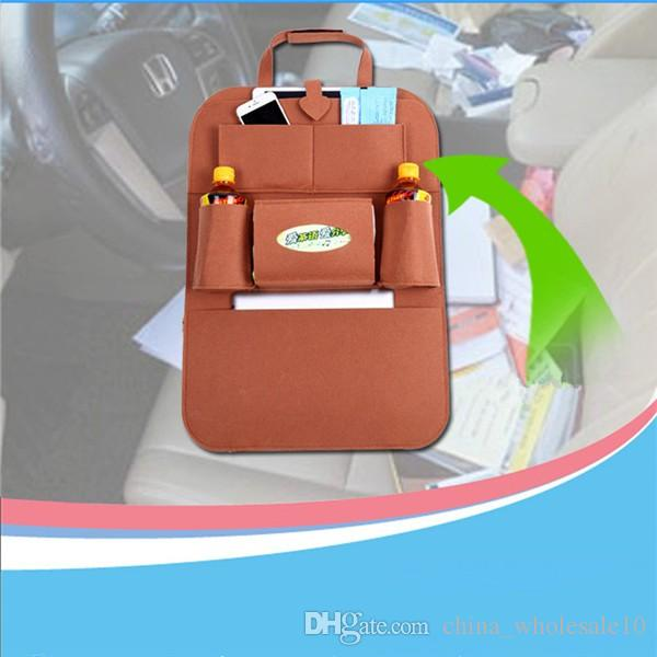 Auto Car Back Seat Storage Organizer Trash Net Holder Multi-Pocket Travel Storage Bag Hanger for Auto Capacity Storage Pouch