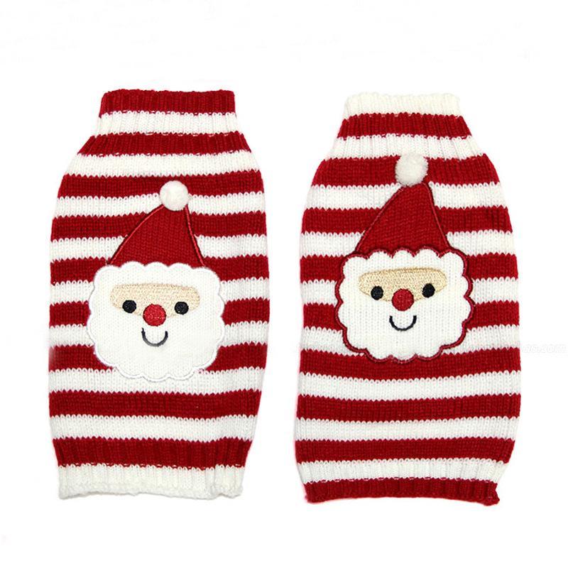 0c2144d1366b6 Acheter Chien De Noël En Tricot Pull Au Crochet Cothes Chien Père Noël  Costume De Pull Pour Chien Chien Rouge Stripe Pull Vêtements D hiver De   14.38 Du ...