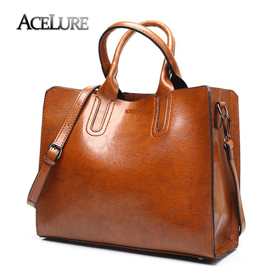 4b78ba498995 ACELURE Leather Handbags Big Women Bag High Quality Casual Female Bags  Trunk Tote Spanish Brand Shoulder Bag Ladies Large Bolsos Laptop Bags  Leather ...